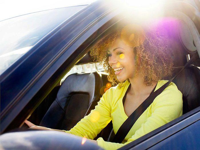 Conduisez dans une bonne position pour éviter un mal de dos.