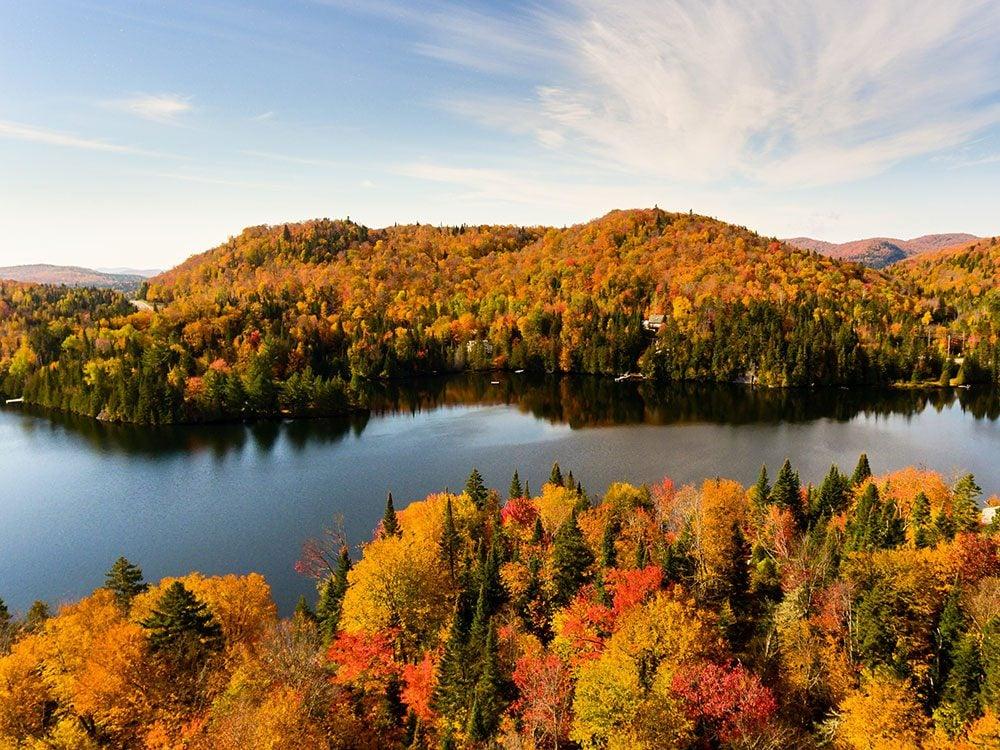 Le Lac Creux est l'un des panoramas à couper le souffle au Québec.