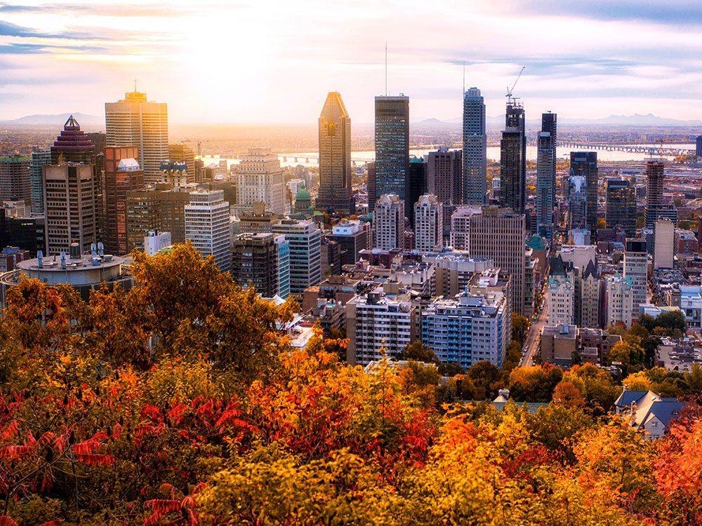 Montréal est l'un des panoramas à couper le souffle au Québec.