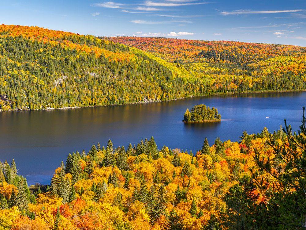 Le parc de la Mauricie est l'un des panoramas à couper le souffle au Québec.