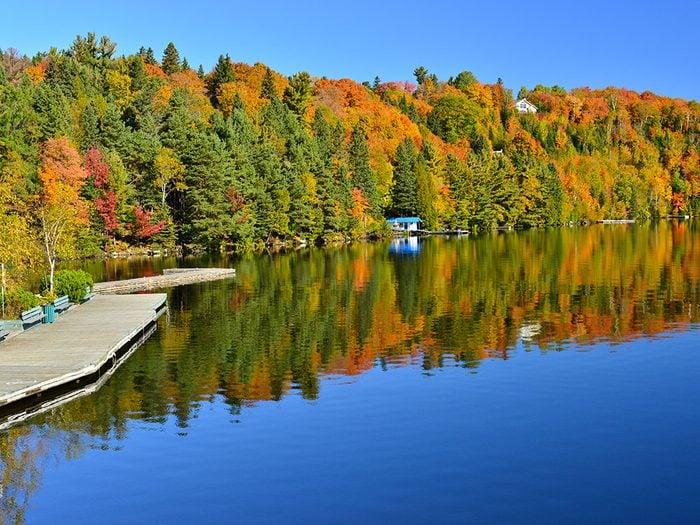 Sainte-Marguerite dans les Laurentides est l'un des panoramas à couper le souffle au Québec.