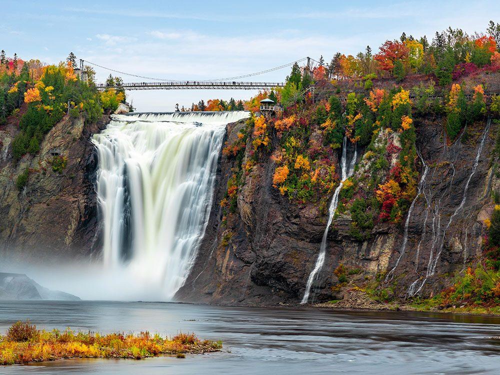 La chute de Montmorency est l'un des panoramas à couper le souffle au Québec.