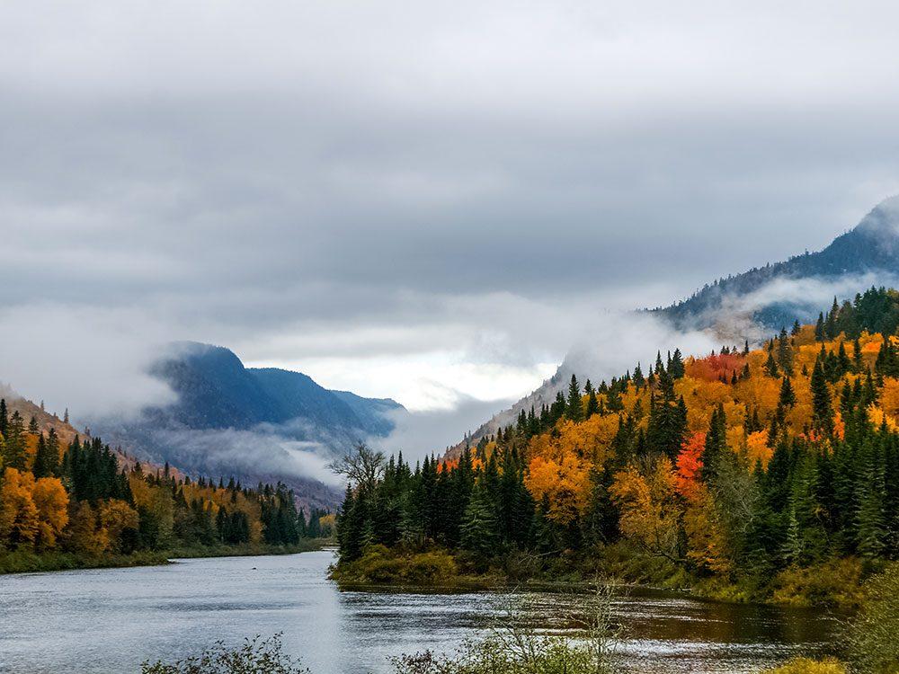 Le parc national de la Jacques-Cartier est l'un des panoramas à couper le souffle au Québec.