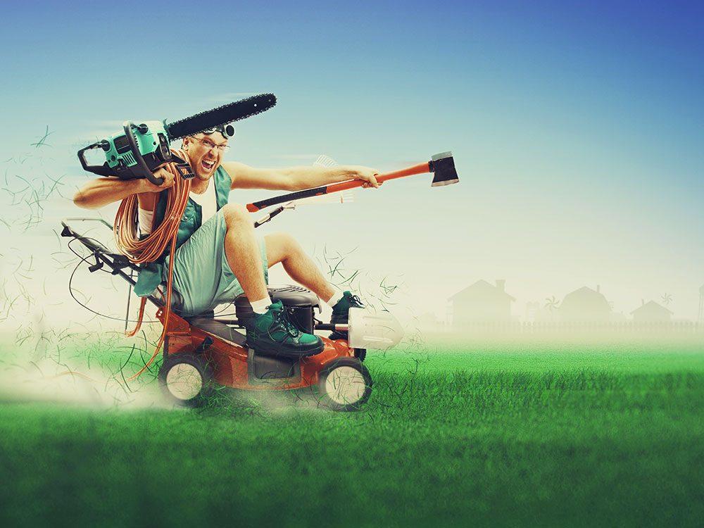 Photos hilarantes: tous les outils requis pour affronter le printemps.