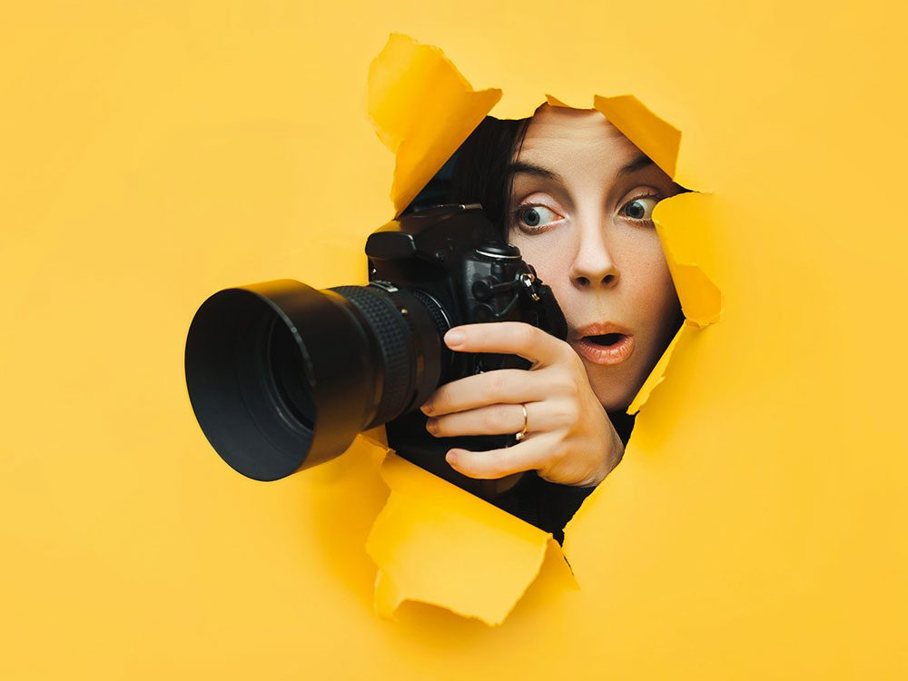 Photos hilarantes: photographe en chasse.