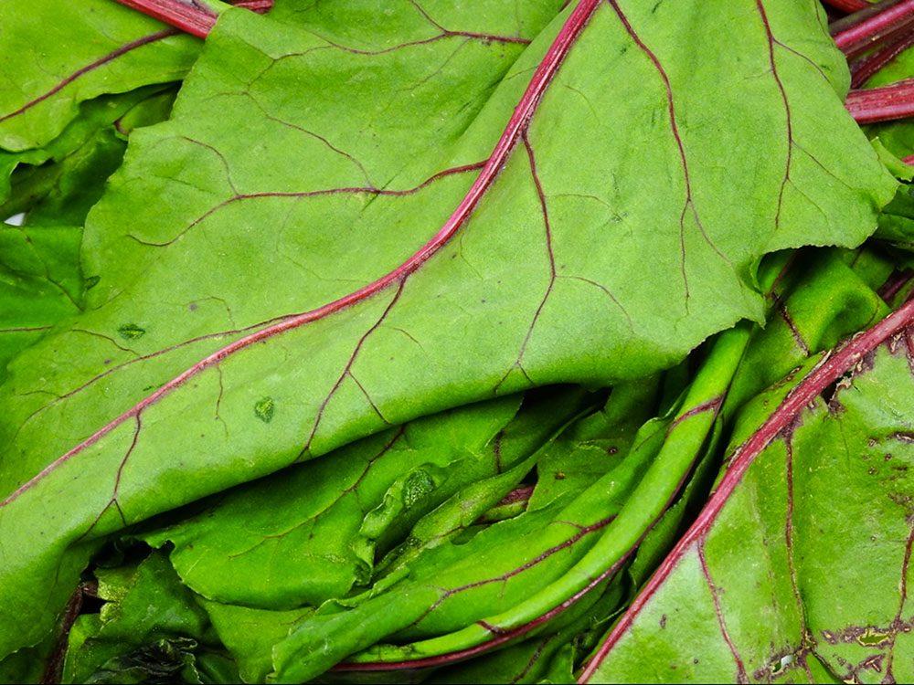 Manger beaucoup de légumes feuilles est bon pour la santé des os.
