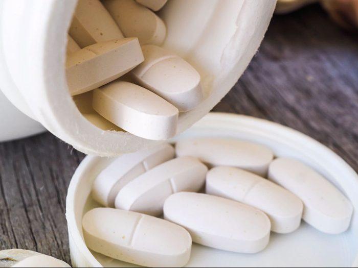 Un excès de suppléments de calcium peut être mauvais pour la santé des os.