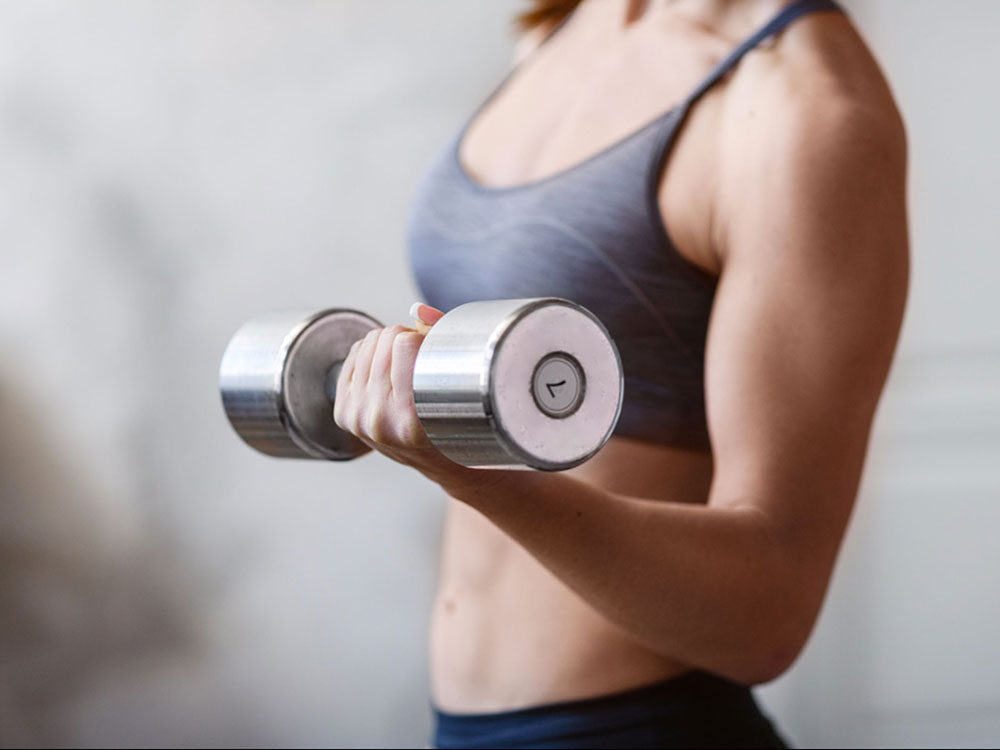 Soulever des poids est bon pour la santé des os.