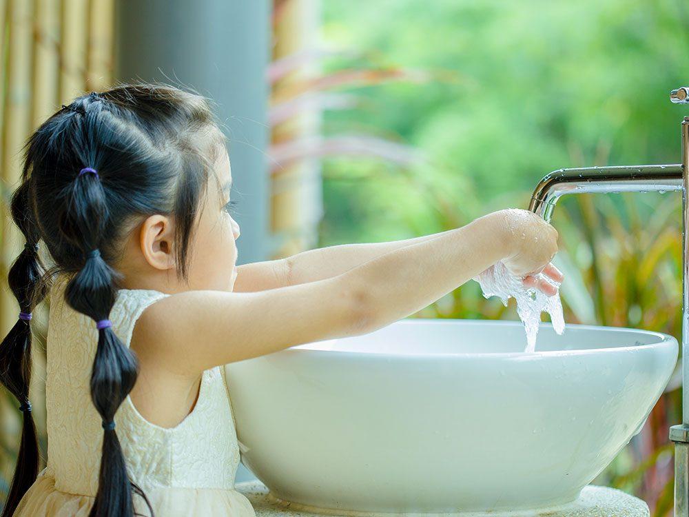 Restez vigilant concernant le lavage des mains, surtout l'hiver.