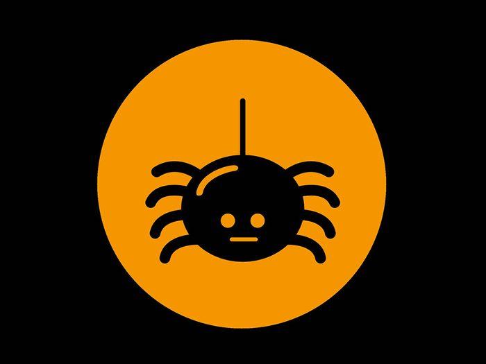 La superstition des araignées.