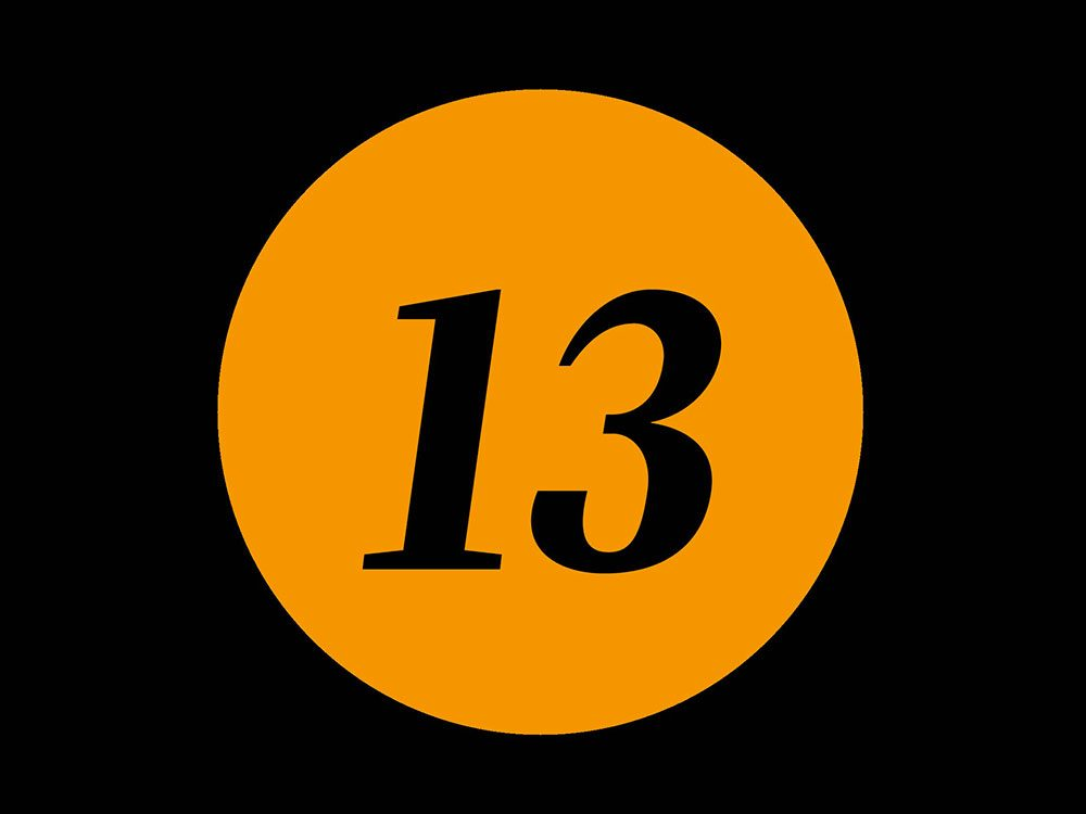 La superstition du vendredi 13.