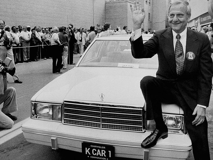 La Plymouth Reliant de Chrysler est une voiture vintage.