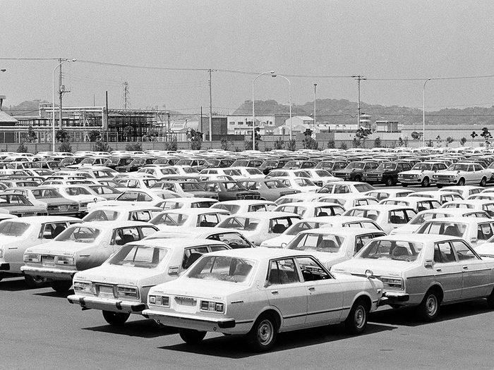 Nissan est l'une des marques dont les voitures sont vintages.