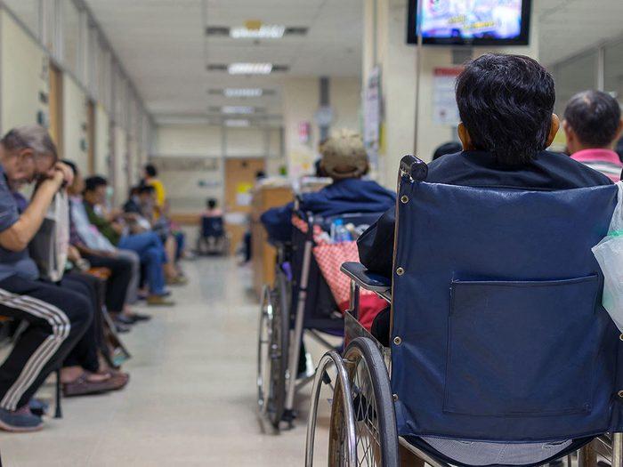Vulnérabilité: tout le monde n'arrive pas à l'hôpital de la même façon.