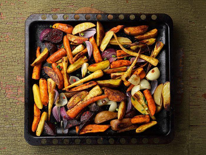 Pour manger plus de légumes, faites-les rôtir.