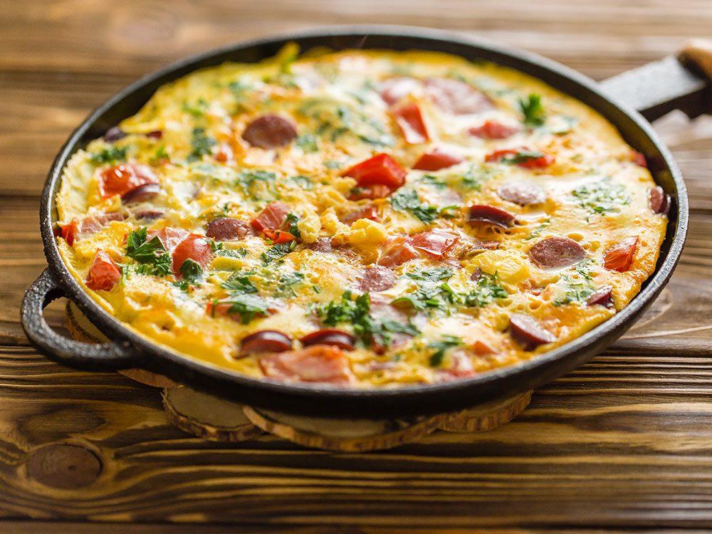 Pour manger plus de légumes, mettez-les dans une omelette.