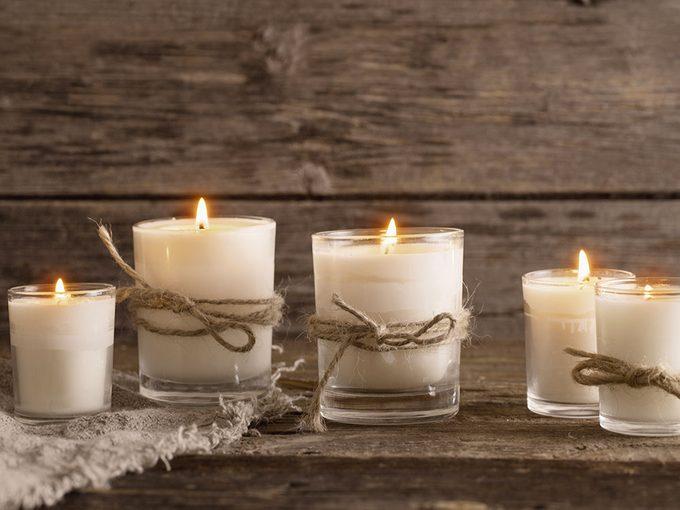 Les bougies parfumées et la qualité de l'air.