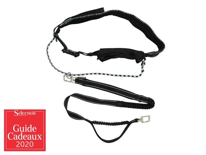 La ceinture de course avec laisse élastique fait partie des idées de cadeaux de Noël.