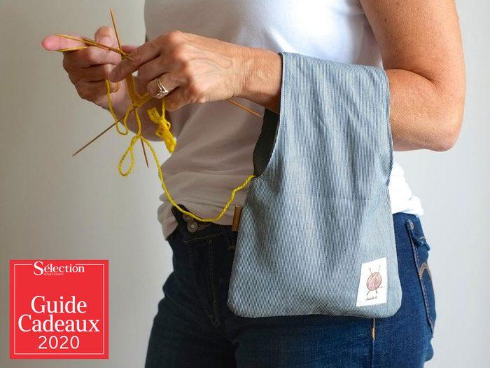 Le sac à tricot, Jésabelle B. fait partie des idées de cadeaux de Noël.