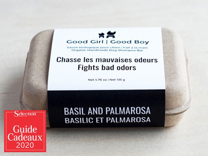 Le savon au basilic et Palmarosa fait partie des idées de cadeaux de Noël.