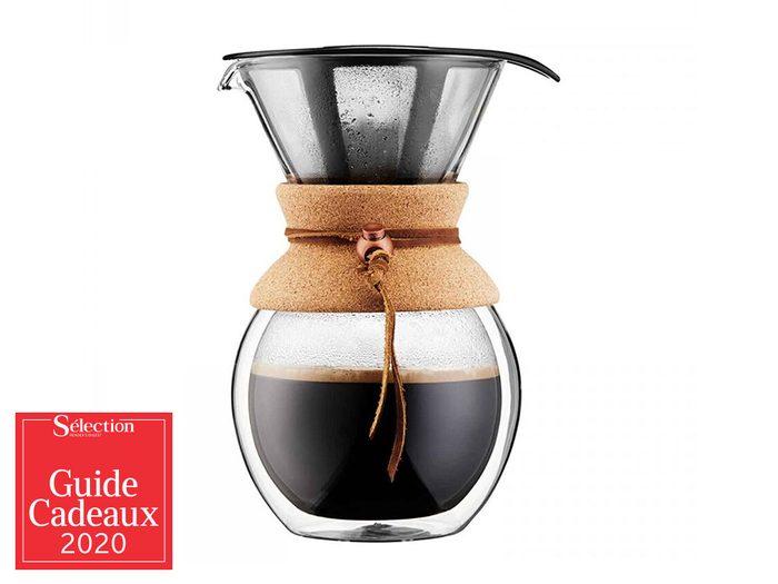 La cafetière filtre à double paroi fait partie des idées de cadeaux de Noël.