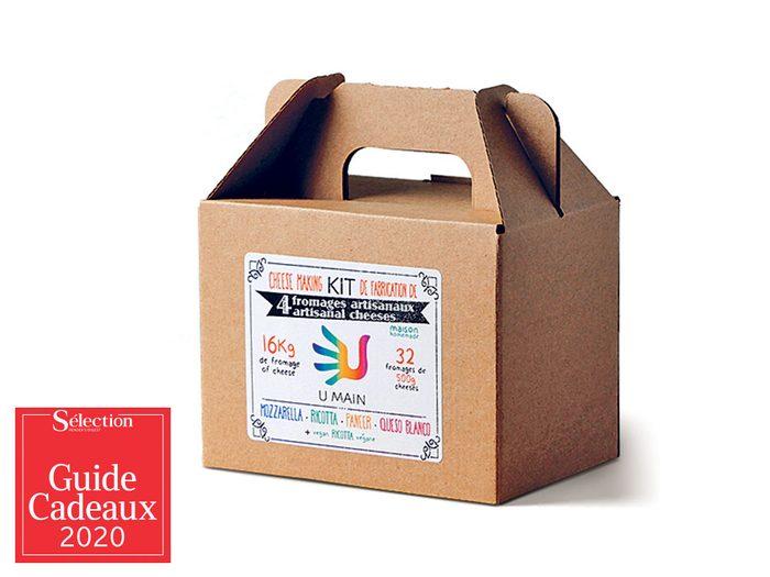 Le kit «Quatre fromages à faire soi-même» fait partie des idées de cadeaux de Noël.