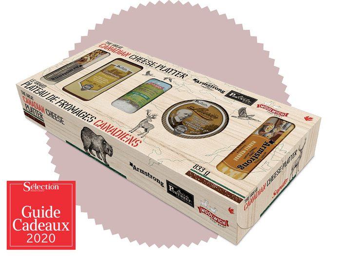 Les coffrets de fromages de Saputo fait partie des idées de cadeaux de Noël.