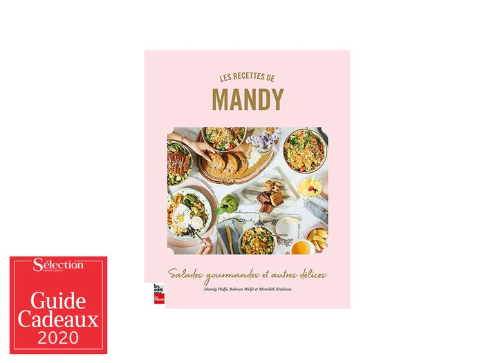 Le livre de recette «Recettes de Mandy» fait partie des idées de cadeaux de Noël.