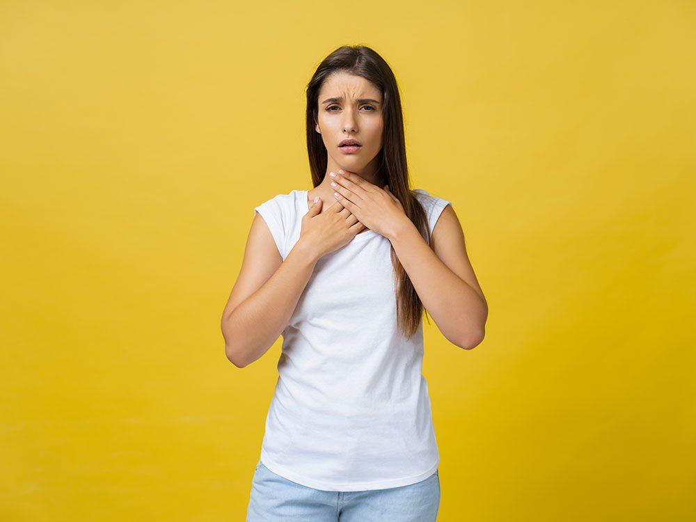 Un mal de gorge persistant peut être lié à un cancer de la gorge.
