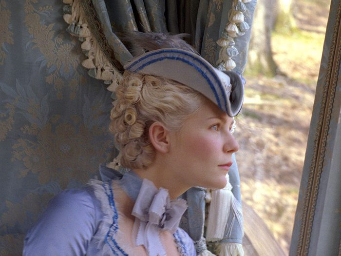 Marie-Antoinette est l'un des films au palmarès des pires erreurs historiques.