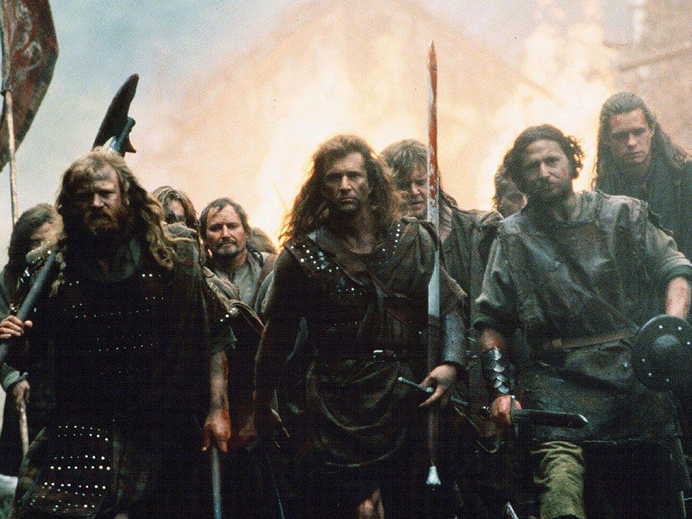 Cœur Vaillant est l'un des films au palmarès des pires erreurs historiques.