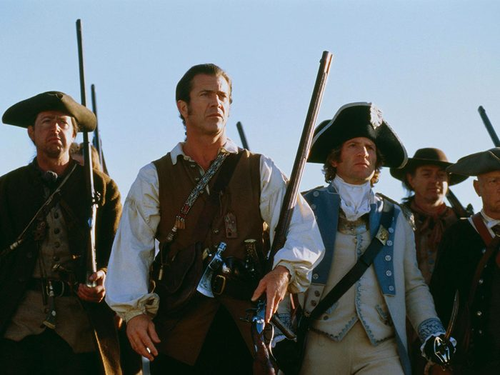 Le Patriote est l'un des films au palmarès des pires erreurs historiques.