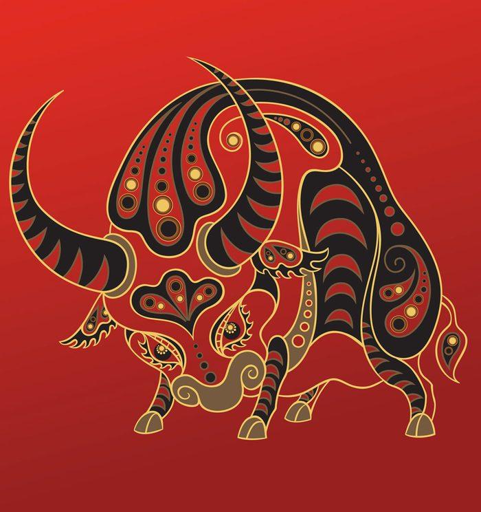 Le bœuf dans l'horoscope chinois.