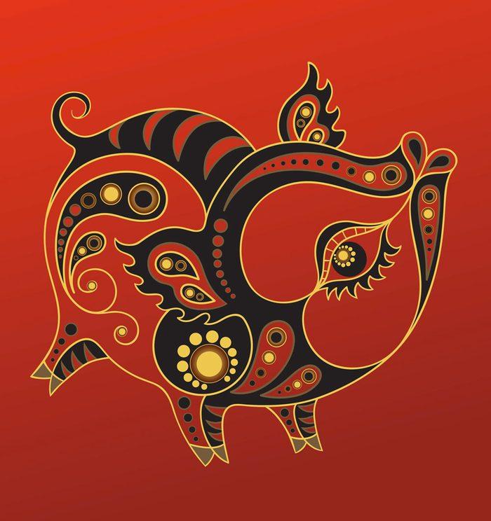 Le cochon dans l'horoscope chinois.