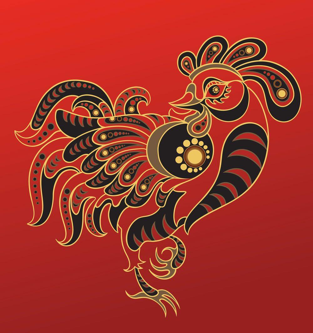 Le coq dans l'horoscope chinois.