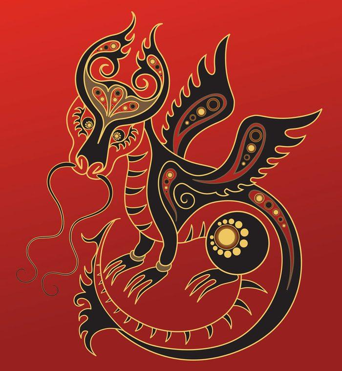 Le dragon dans l'horoscope chinois.