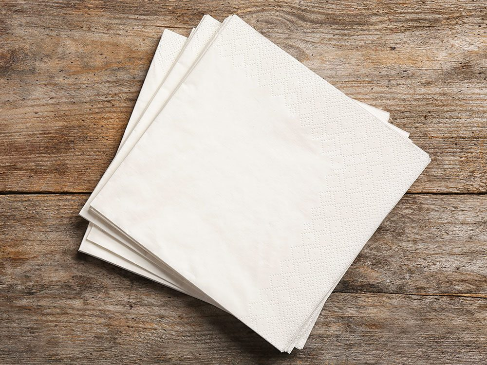 Les milléniaux ont fait disparaître les serviettes de table.