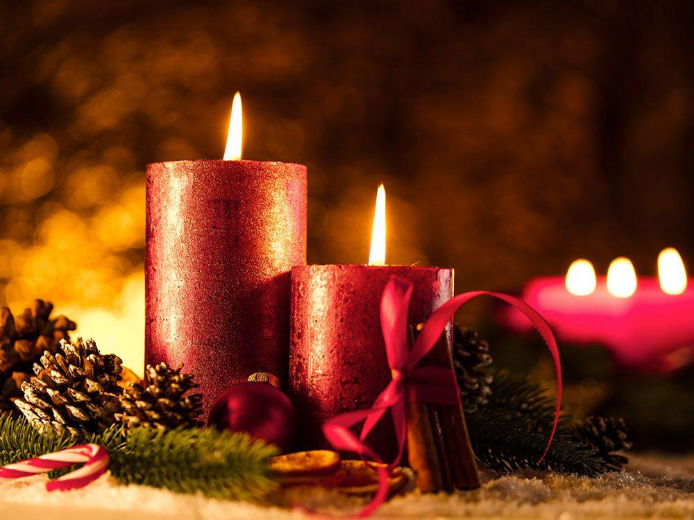 Gare au feu à Noël.