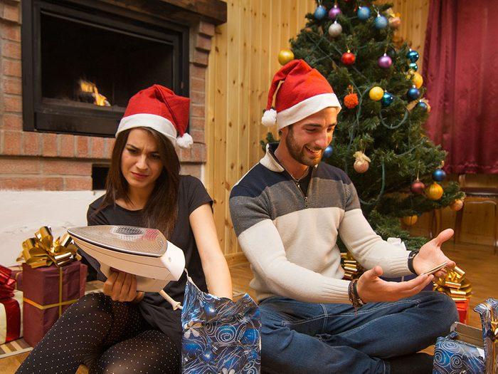 Pour Noël, n'offrez pas de cadeau relié à une tâche ménagère!