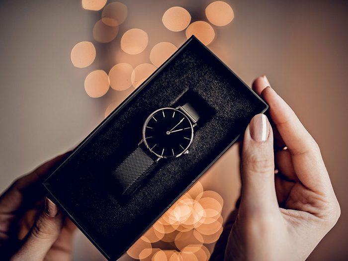 Pour Noël, n'offrez pas de montre.
