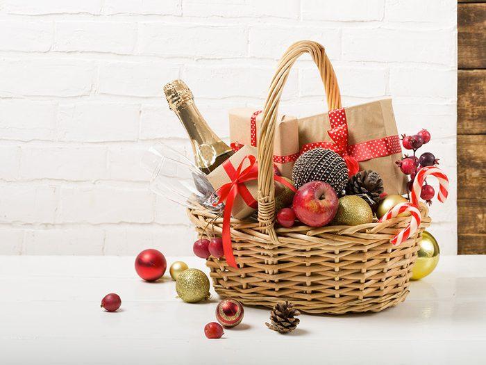Pour Noël, n'offrez pas un panier de produits déjà fait.