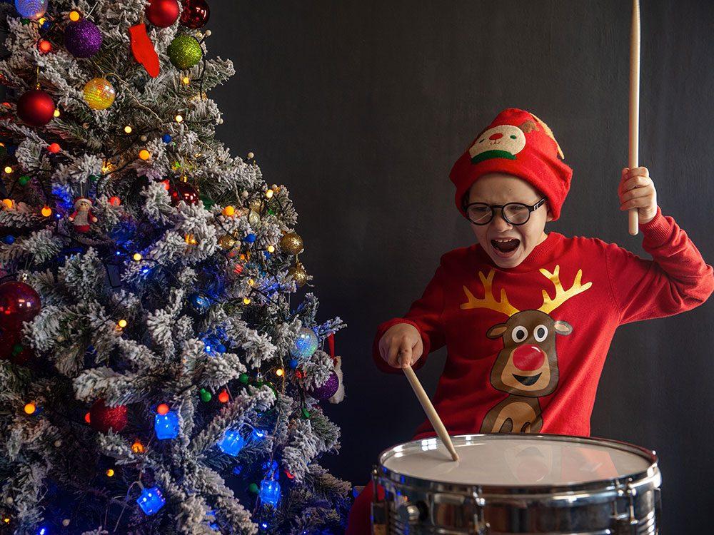Pour Noël, n'offrez pas de jouets bruyants.