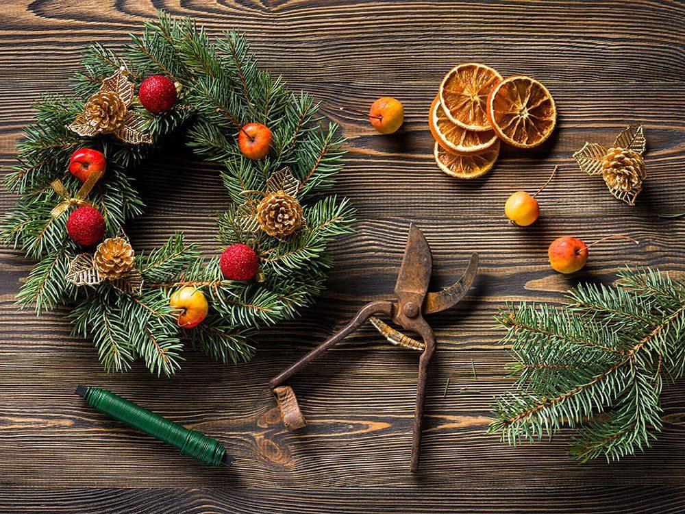 Décorer au naturel pour passer un Noël zéro déchet.