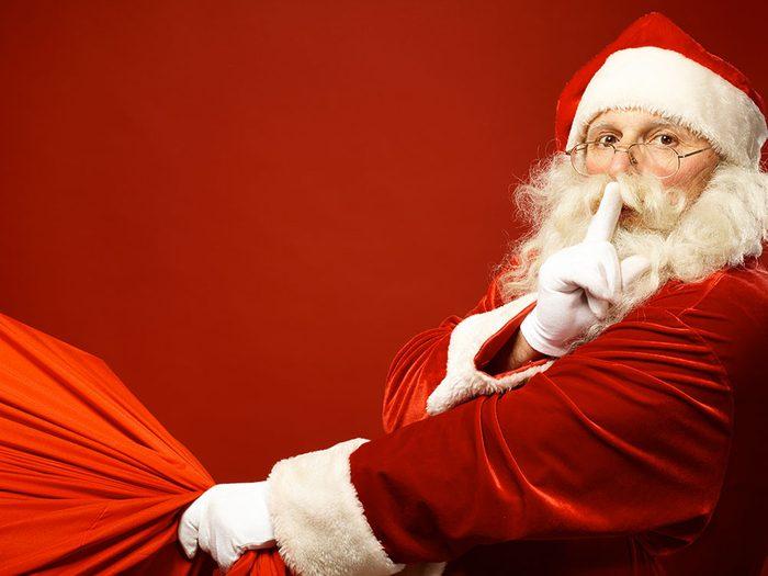 Le mystérieux père Noël.