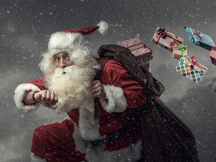 Un père Noël retardataire.