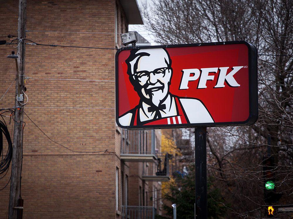 Poursuite contre PFK pour publicité mensongère.