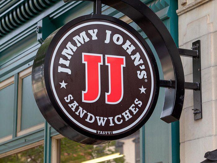 Jimmy John's poursuivi pour des sandwiches sans germes.