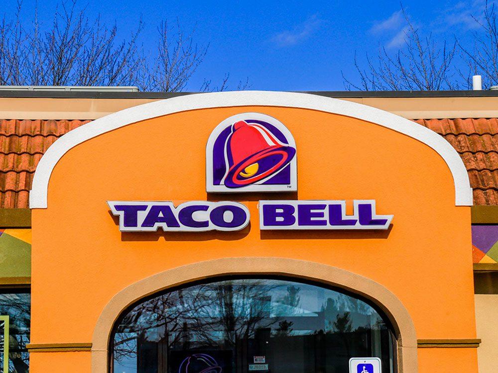 Taco Bell a été poursuivi pour publicité mensongère.