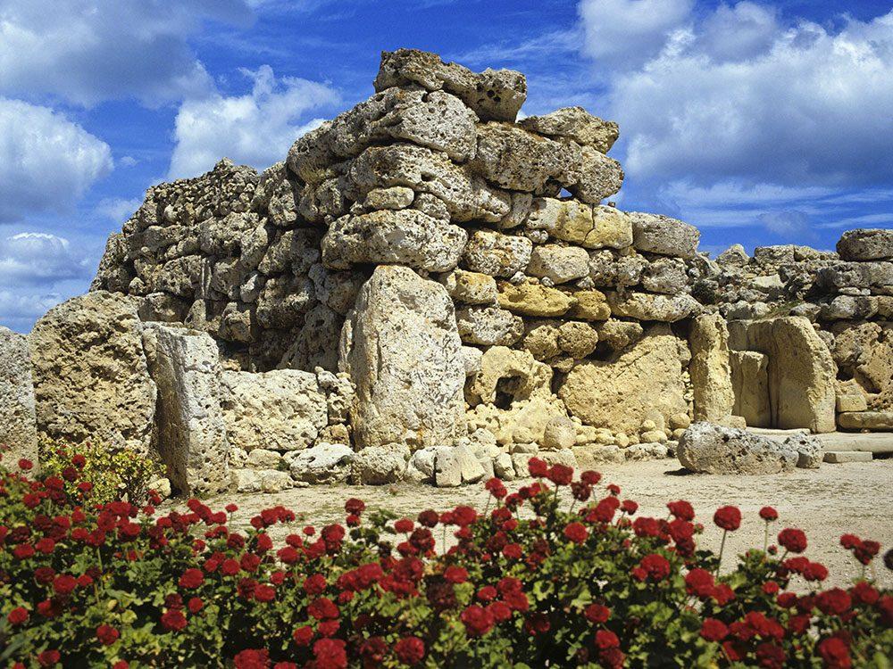 Les temples de Ġgantija font partie des plus vieux bâtiments du monde.