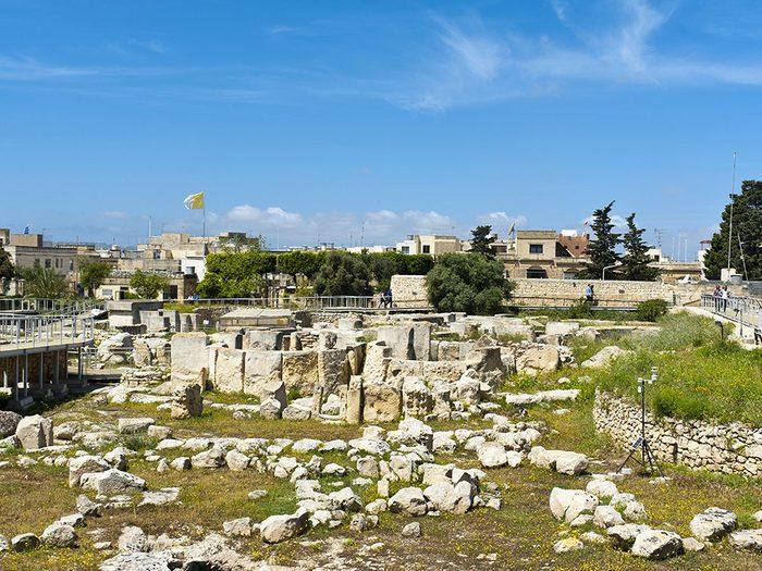 Les temples de Tarxien font partie des plus vieux bâtiments du monde.